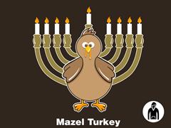 Mazel Turkey Pullover Hoodie