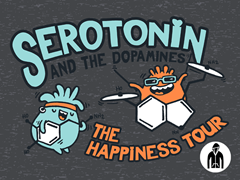 Serotonin & the Dopamines Jersey Zip Hoodie
