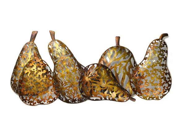 Metal Pears Wall Décor