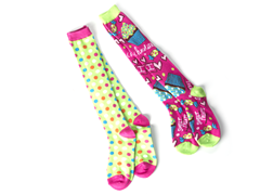 Cupcake & Dots Knee Socks (2 pair)