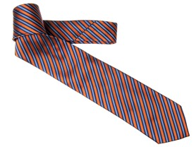 Small Bar Stripe Tie, Orange