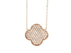 18kt Rose Gold Plated Clover Necklace