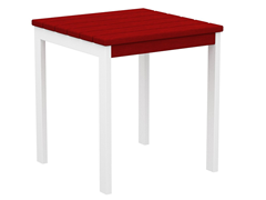 Euro Side Table, White/Sunset Red