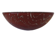 Glass Vessel Sink, Maroon