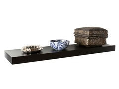 "Chicago 36"" Floating Shelf Black"