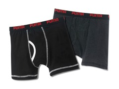 Puma Boxer Brief - Grey/Black