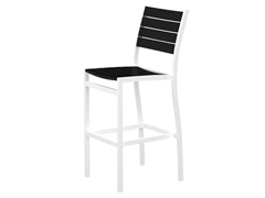 Euro Bar Chair, White/Black