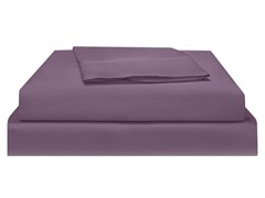500TC Pima WF Sateen Sheet -Plum-Queen