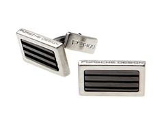 Stainless Steel Square Cufflinks, Black