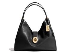 Coach Madison Carlyle Leather Shoulder Bag, Black