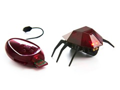 Desk Pets Red Skitterbot Robotic Bot