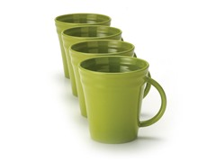 Green Mugs Set of (4) 12 oz.