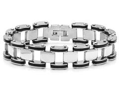 """8"""" Link Bracelet w/ Rubber Accent"""
