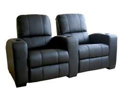 Black  2-Seat Antipholus Reclining Theater Seats
