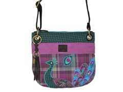 Boho Peacock Crossbody Bag, Purple
