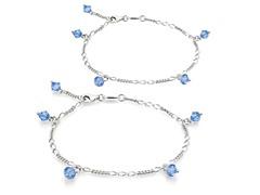 Aquamarine Bracelet & Anklet Set