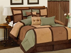 Dareen 7pc Comforter Set - Sage - 2 Sizes