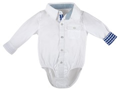 White Infant Oxford Shirtzie (12M-24M)