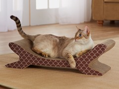 Cat On A Hot Tin Roof Cat Scratcher - Brown