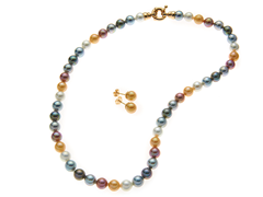 Multicolor 8mm Necklace & Earring Set