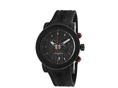 Black Rubber Chronograph Watch