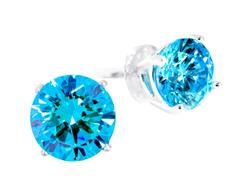 SS Blue 5cttw Earring