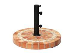 Terra Cotta Mosaic Umbrella Base