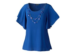 Star Vixen Top with Silver Necklace, Bl