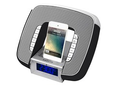 Dual Alarm Clock for iPhone - Black