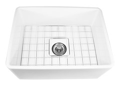24-Inch Fireclay Farmhouse Kitchen Sink