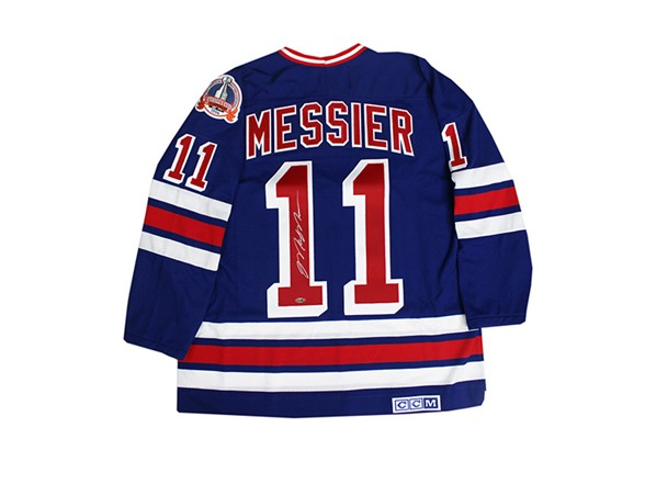 9e21491f4fb Mark Messier Rangers 1994 Blue Jersey