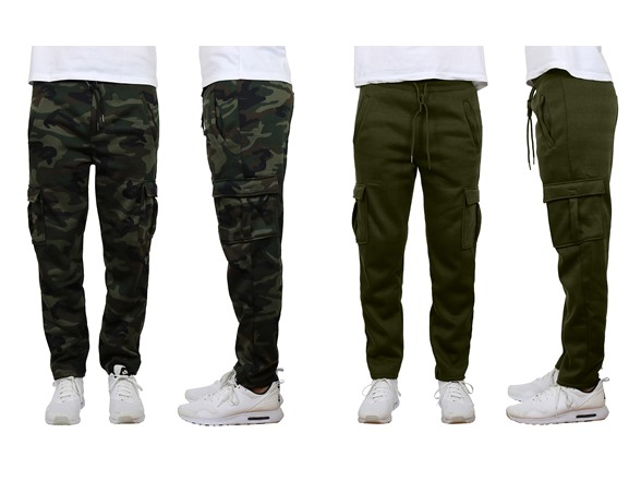 Image of Fleece Cargo Sweatpants W Open Bottom 2p