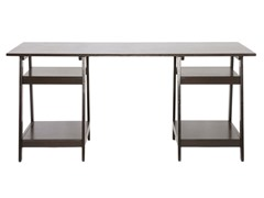 Baxton Studio Mott Desk w/Sawhorse Legs