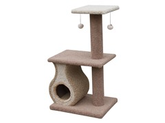"Carpeted Cat Condo w/Platforms & Teasers 43"" H"