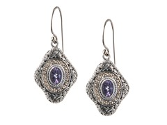 18kt Gold Accent Amethyst Earrings