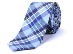 Silk Tie, Blue Checkers