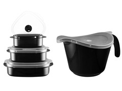 Batter Bowl, Lid & 6-Piece Set Black