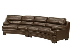 Tuscanova Leather Sectional