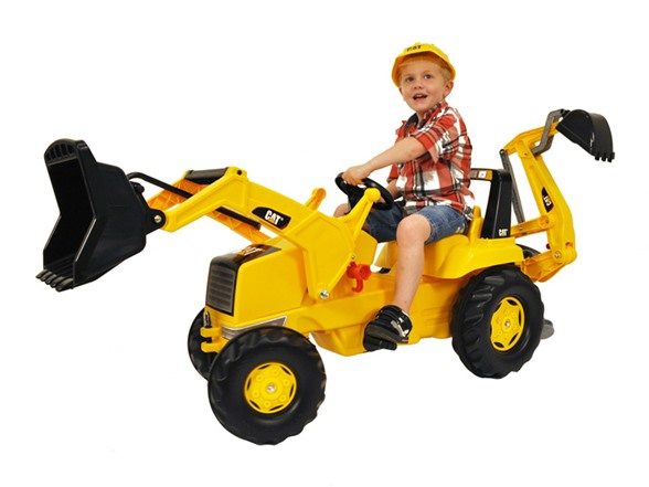 Digging Toys For Boys : Caterpillar backhoe loader ride on kids toys