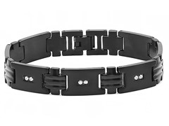 Stainless Steel Black IP Bracelet