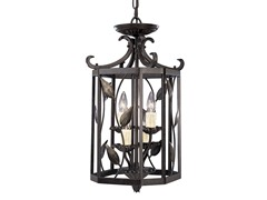 4-Light Foyer Fixture, Forged Bronze