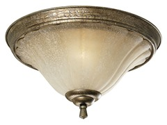 2-Light Flushmount, Biscay Crackle