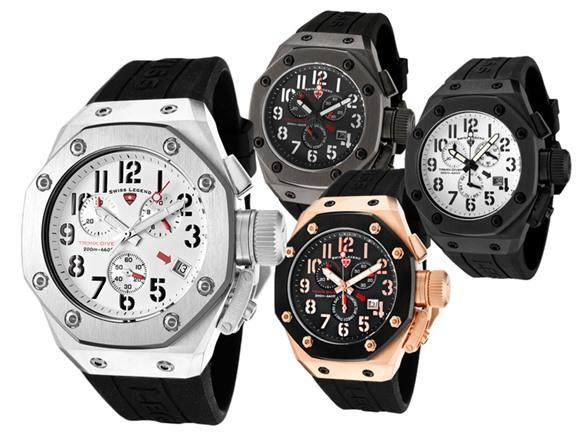 Watches Swiss Legend Tri Mix : Swiss legend men s trimix diver chronograph