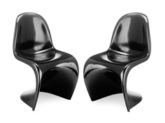S Chair Black Set of 2