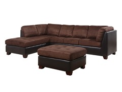 Echo Leek Sectional and Ottoman