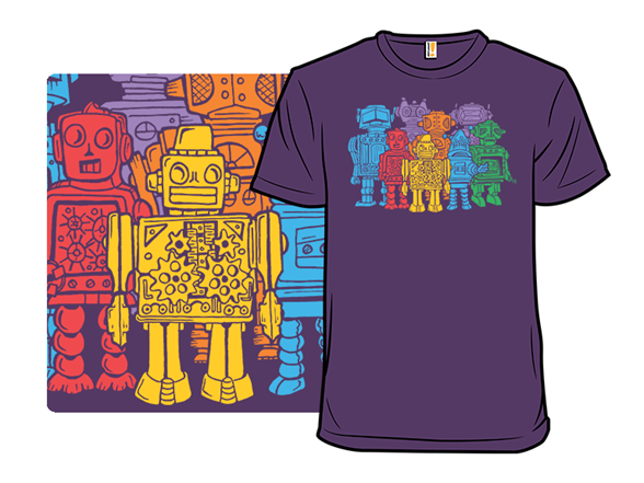 Retro Robot Squad Is Go! T Shirt