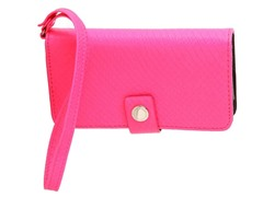 BCBG Iphone Case Wristlet, Neon Pink