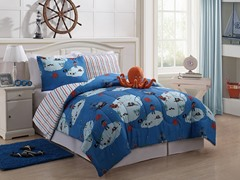 Reversible Bedding Set (Twin or Full) Octopus