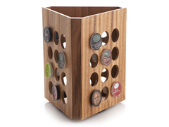 Acaia Wood Traingular Rotating Rack