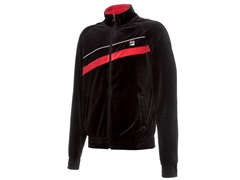 Fila Men's Diagonal Velour Jacket, Black